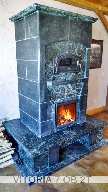 Vitoria Series Greenstone Soapstone Masonry Heaters